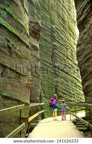 Rock city Adrspach, National park of Adrspach, Czech Republic - stock photo