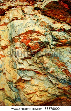 Rock Colors - stock photo