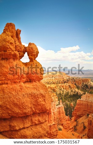 Rock formation close up at Bryce Canyon, Utah - stock photo
