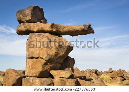 Rock formation, Giants Playground, Namibia, Southern Africa - stock photo