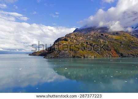 Rock formation in Glacier Bay National Park & Preserve, Alaska - stock photo