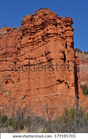 Rock formations in Caprock Canyons State Park, Texas - stock photo