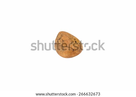 Rock-marble isolated on white background. Accessories for the banner - stock photo