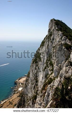 Rock of Gibraltar - stock photo