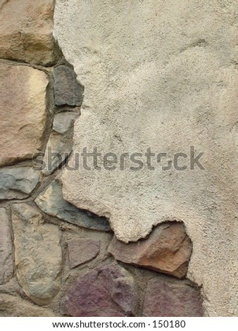Rock wall close up background - stock photo