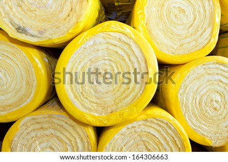 Rock wool for insulation - stock photo