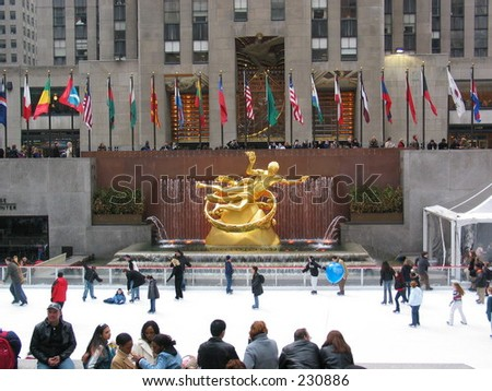 Rockefeller Center Ice Rink - stock photo