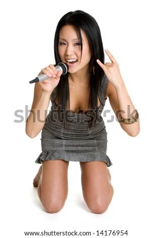 Rocker Chick - stock photo