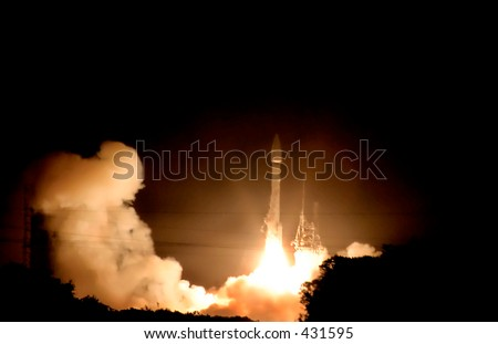 Rocket Launch in Florida - stock photo