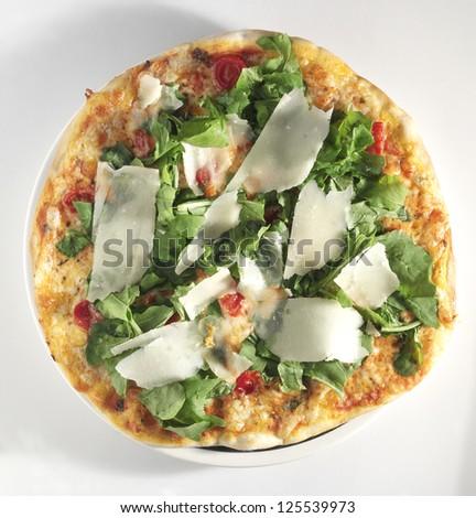 rocket pizza - stock photo