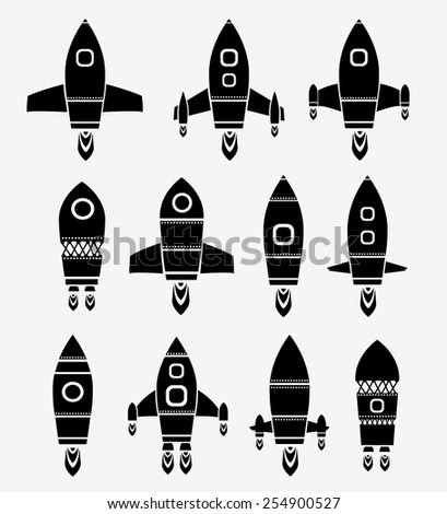 Rocket Space and Ship shuttle - stock photo