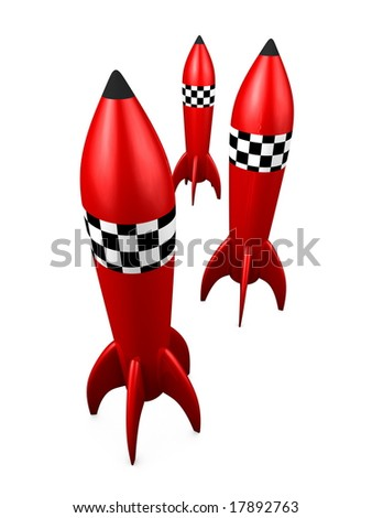 Rocket toy - stock photo