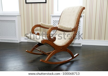 Rocking chair for the rest - stock photo