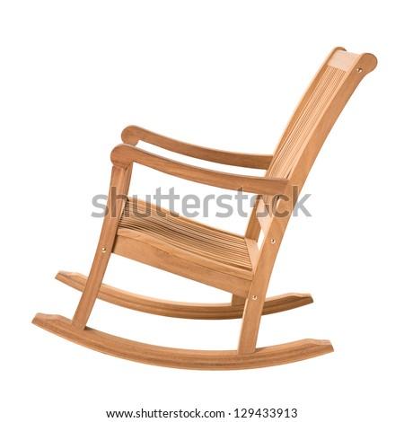 rocking chair on white - stock photo