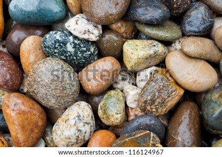 rocks and pebbles - large - various colors and textures - stock photo