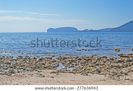 rocks by the shore in Mugoni beach - stock photo