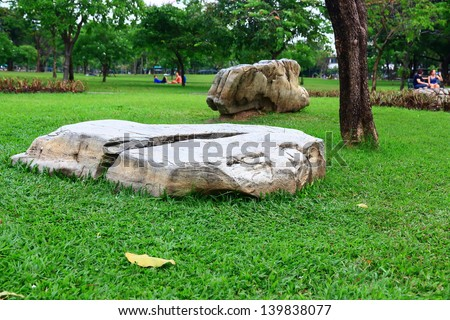 Rocks in garden. - stock photo