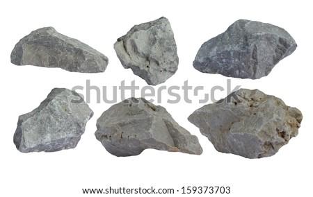 Rocks isolated - stock photo
