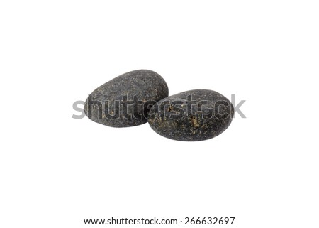Rocks isolated on white background. Accessories for the banner - stock photo