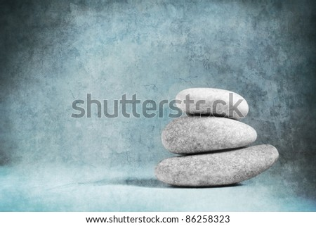 Rocks stacked one top of another is an art form. - stock photo