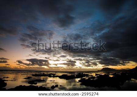 Rocky Beach, Betty's bay - Western Cape, South Africa - stock photo