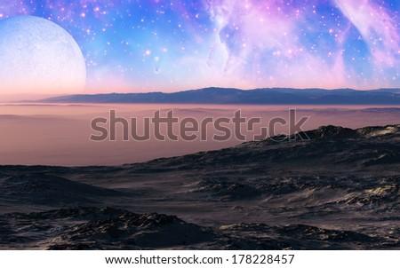 Rocky Desert - stock photo