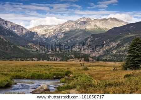 Rocky Mountain National Park Estes Park Colorado - stock photo