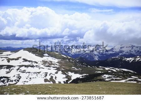 Rocky Mountain National Park in Colorado - stock photo