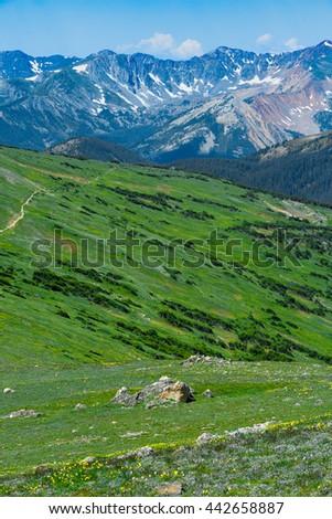Rocky Mountain National Park landscape.  Colorado USA. - stock photo