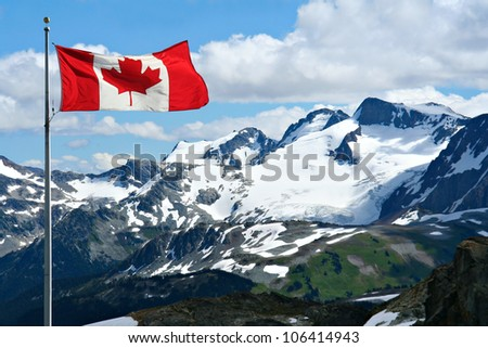 Rocky mountains at Whistler, Canada. - stock photo