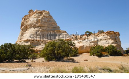 Rocky  Mountains Formations in Utah, USA - stock photo