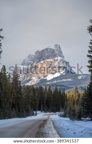 Rocky Mountains in Banff Park, Alberta, Canada - stock photo