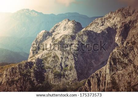 Rocky Mountains Landscape beautiful Caucasus nature - stock photo