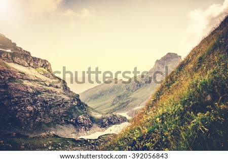 Rocky Mountains Landscape Summer Travel scenic view  - stock photo