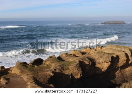 Rocky Oregon USA Coast - stock photo