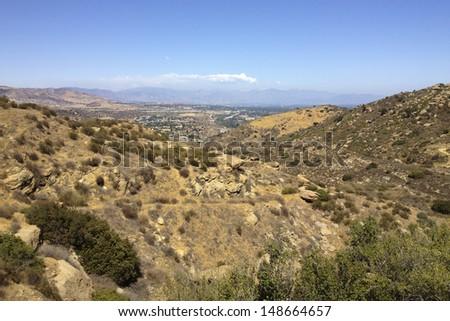 Rocky Peak Trails west of San Fernando Valley, Santa Susana Mountains, CA - stock photo