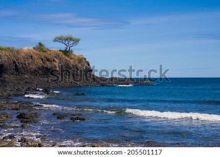 Rocky reef in Nosy be, Madagascar - stock photo