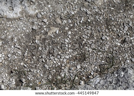 Rocky surface of the earth. Close up. - stock photo