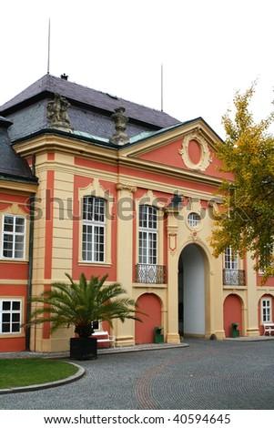 Rococo chateau entrance - stock photo