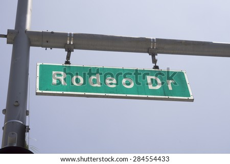 Rodeo Drive, Beverly Hills,CA,USA - stock photo
