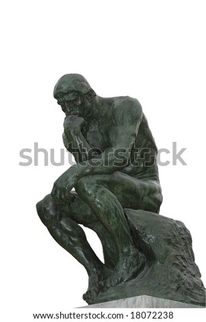 Rodin sculpted The Thinker - stock photo