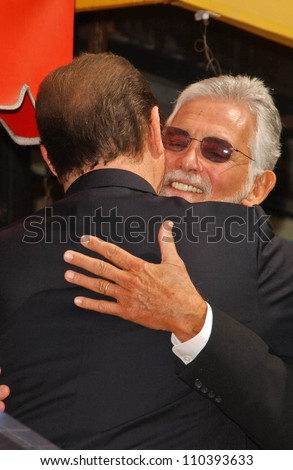 Roger Moore and David Hedison  at the ceremony honoring Roger Moore with the 2,350th Star on the Hollywood Walk of Fame. Hollywood Boulevard, Hollywood, CA. 10-11-07 - stock photo
