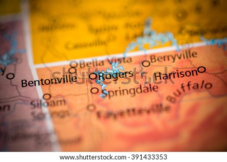 Rogers. Arkansas. USA - stock photo