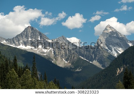 Rogers Pass, in British Columbia, Canada - stock photo
