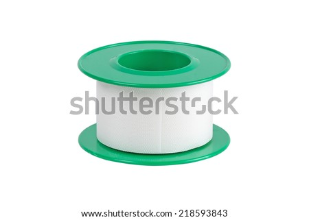 Roll of medical sticking plaster - stock photo