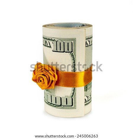 roll of money - stock photo