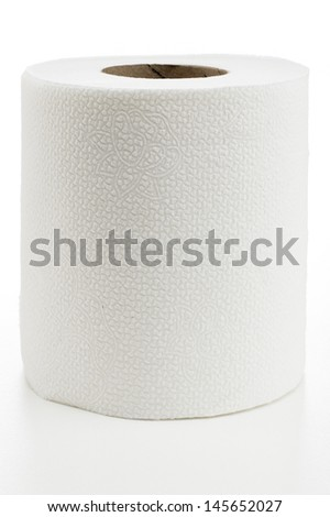 Roll of Toilet Paper - stock photo
