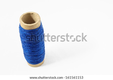 Roll of Twine isolated on a White Background - stock photo
