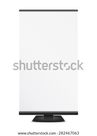 Roll up banner - stock photo