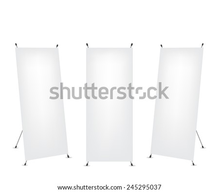 Roll up x-stand banner - stock photo
